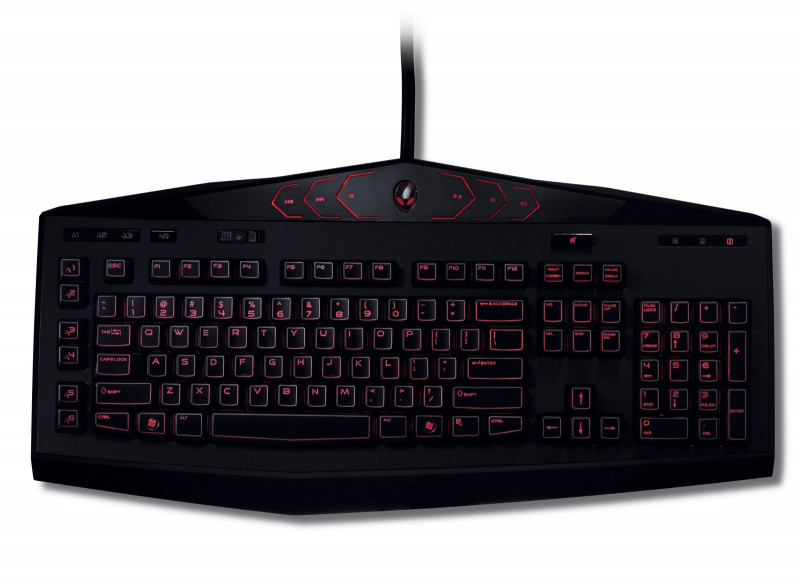 alienware tactx klávesnica